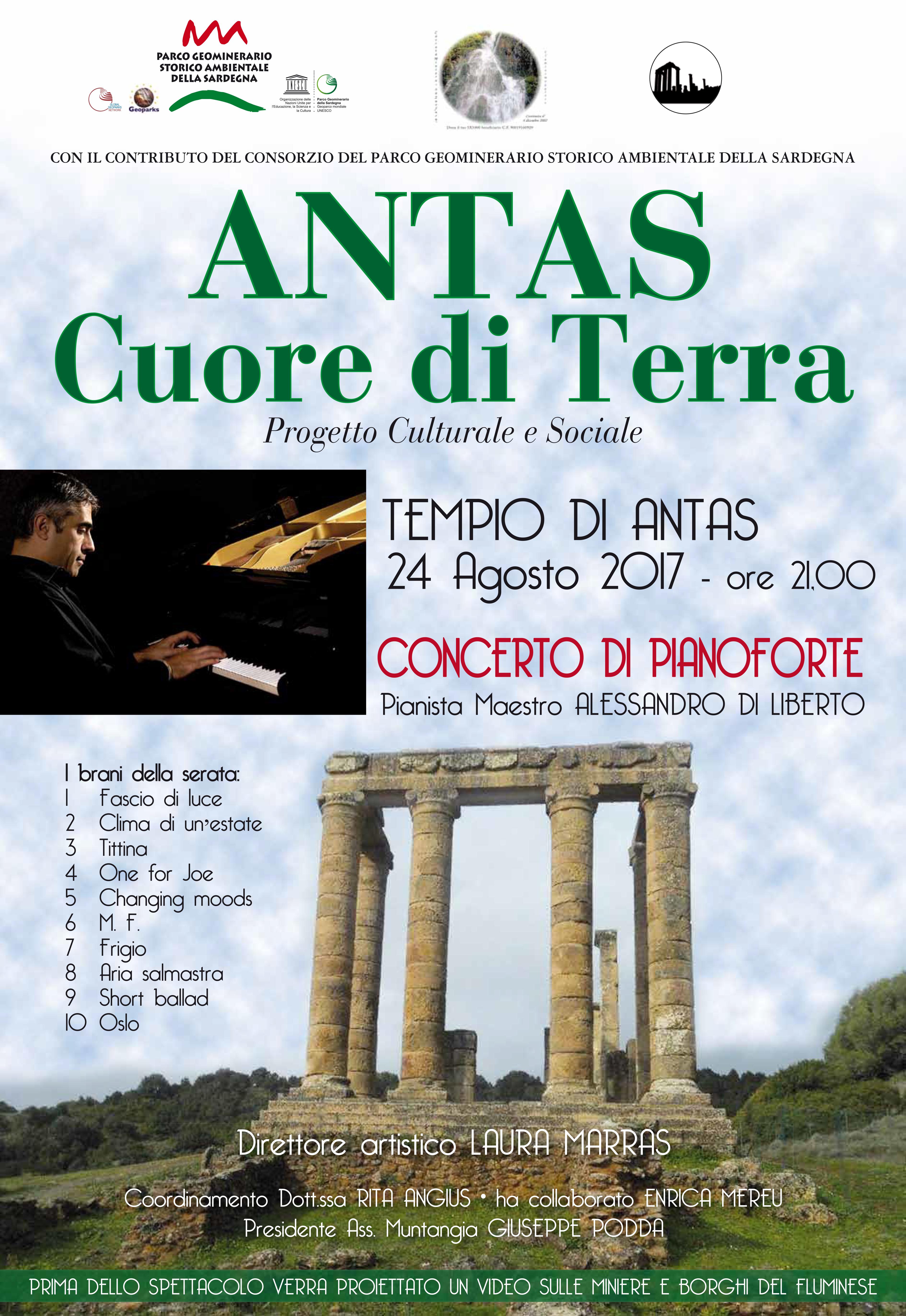 Antas cuore di Terra - concerto di pianoforte 24 agosto